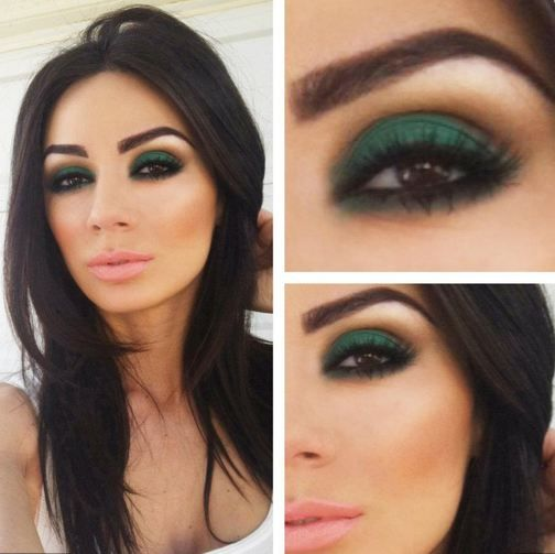 Loving greens!  Perfect for brown eyes- LOVE the color