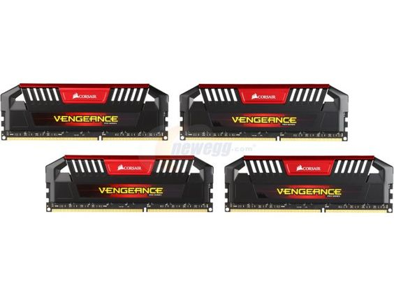 CORSAIR Vengeance Pro 32GB (4 x 8GB) 240-Pin DDR3 SDRAM DDR3L 2133 Memory Kit Model CMY32GX3M4C2133C11R