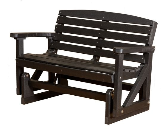"""Classic Poly Lumber 49"""" Patio Glider by Little Cottage Company"""