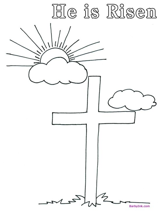 kaboose coloring pages easter cross - photo#44