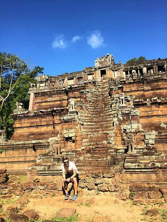 The beautiful temples of Angkor. Siem Reap, Cambodia.
