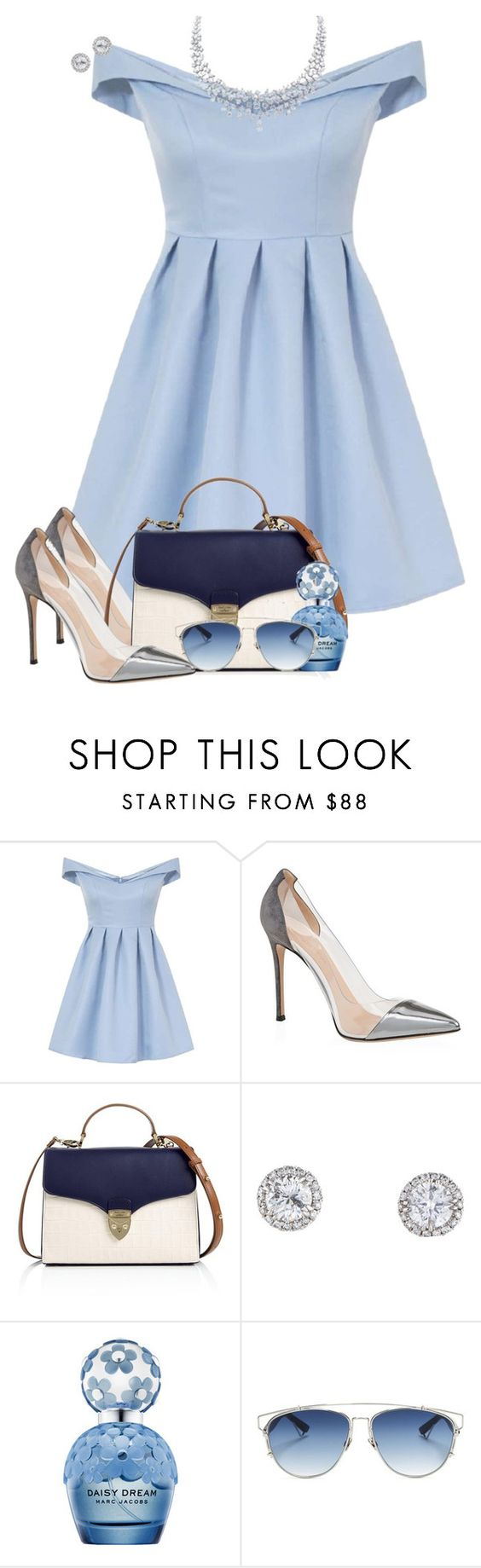 """""""Cinderella 👑"""" by sofia-collins8 ❤ liked on Polyvore featuring Chi Chi, Gianvito Rossi, Aspinal of London, Marc Jacobs and Christian Dior"""
