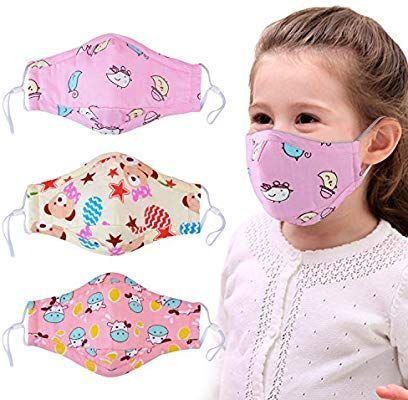Amazon.com: Máscara antipolvo para niños, Aniwon, 3 unidades PM2.5 máscara facial para niños con 6 piezas de filtro de carbón activado, lavable y linda máscara de boca de algodón con correas ajustables, Rosado: Health & Personal Care