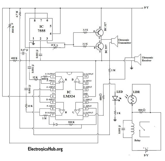30f748e82e689d97de2aca3af34d0661 electronics projects diy electronics automatic door bell with object detection circuit automatic Doorbell Wiring-Diagram Two Chimes at mifinder.co