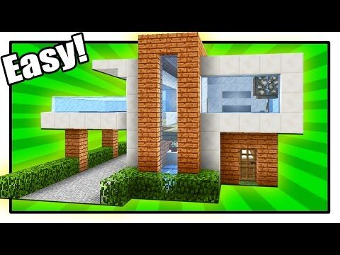 Minecraft How To Build A Large Modern House Tutorial 22 Youtube Modern Minecraft Houses Minecraft Modern Minecraft House Tutorials