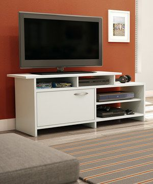 Another great find on #zulily! Pure White Step One TV Stand by South Shore Furniture #zulilyfinds
