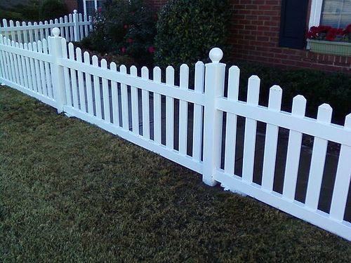 Scalloped vinyl fence http deckandfencestore