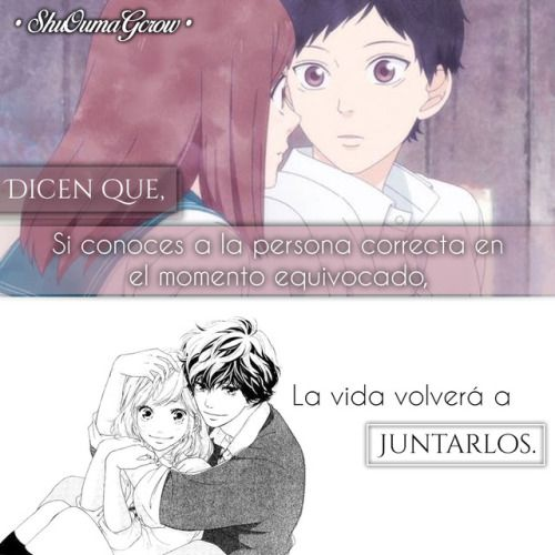 Anime Frases Anime Frases Sentimientos Shuoumagcrow Amor