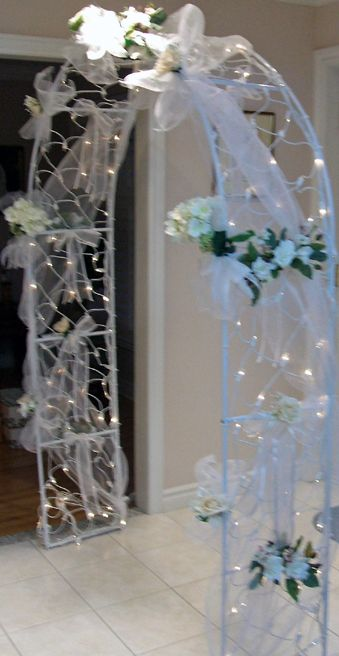 Indoor wedding arch decorations wedding arch kootation for Arch wedding decoration ideas