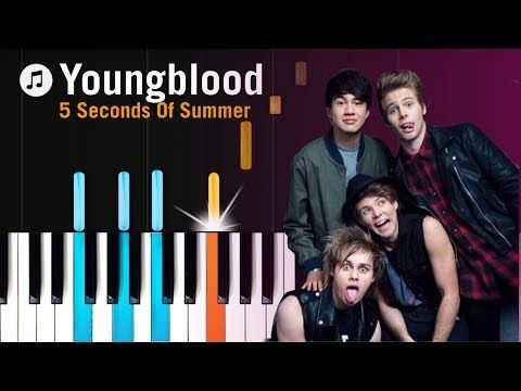 5 Seconds Of Summer Youngblood Piano Tutorial Chords How