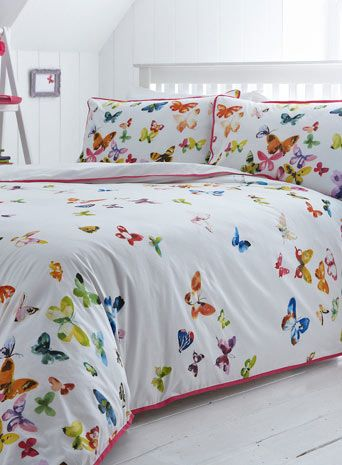 Multi Watercolour Butterflies Bed Set - bedding sets - bedding  - For The Home