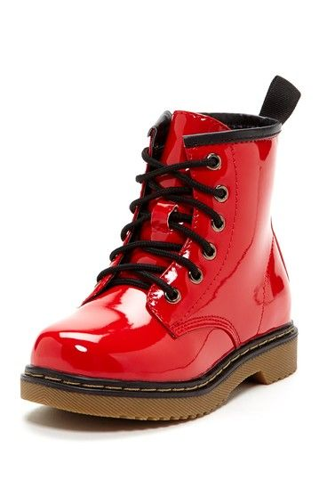 Jane Combat Boot by Crazy For Combat Boots! Red Patent US size
