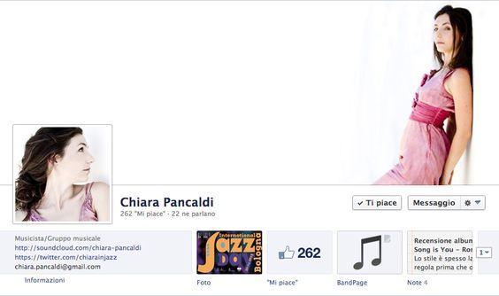 Chiara Pancaldi - Jazz singer - FB fan page and communication setup 2012