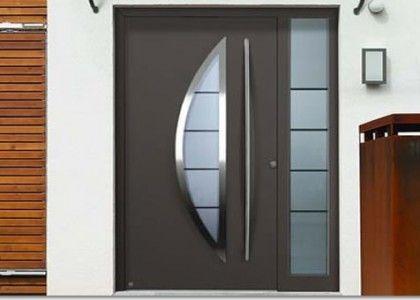 Puertas entrada aluminio exterior buscar con google for Puerta y media de madera