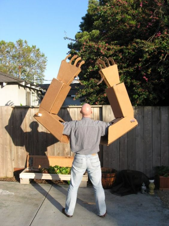 Giant Cardboard Robot Arms by giantcardboardrobots on Etsy,