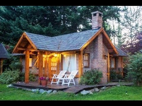 Alpine Style Brick And Wood Cottages In Patagonia Small House Design Ideas Youtube Cottage In The Woods Small House Cabins And Cottages