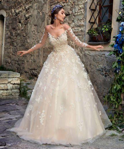 Letta Modern Satin Wedding dress Milk