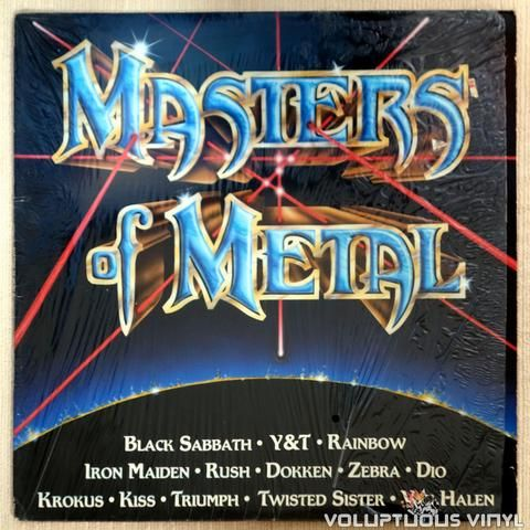 Various Masters Of Metal 1984 Metal Songs Vinyl Music Vinyl Records