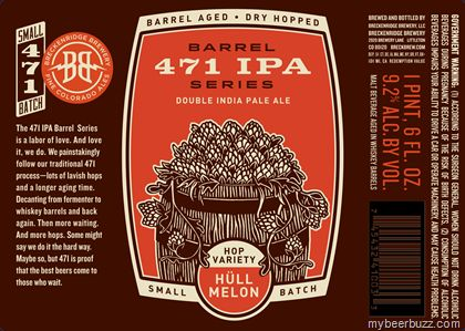 mybeerbuzz.com - Bringing Good Beers & Good People Together...: Breckenridge - Barrel 471 IPA Series DIPA