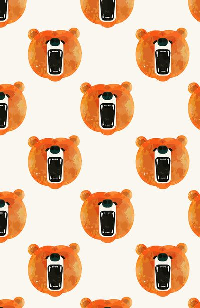 This bear pattern is amazing! I love that the bear has his mouth open! It would look super cool on leggings! Haha.
