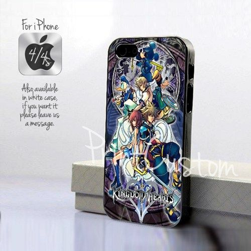 Kingdom Hearts 2 - Design for iPhone 4/4S Black Case