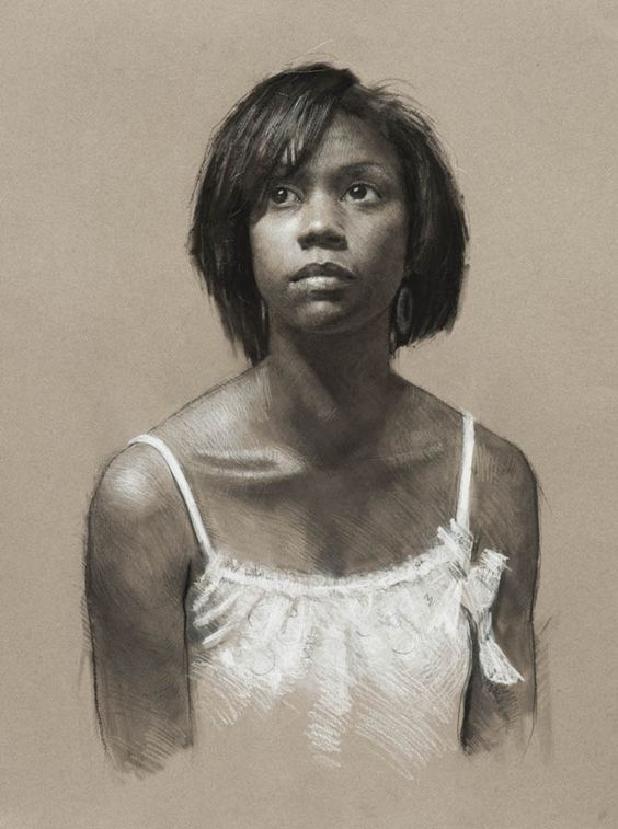 """""""Tauhita"""" by Jeff Hein, Pan pastel, charcoal, and white charcoal, SLC, UT"""
