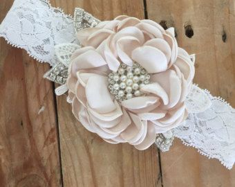 Pink lemonde baby girl couture headband cozette by CozetteCouture