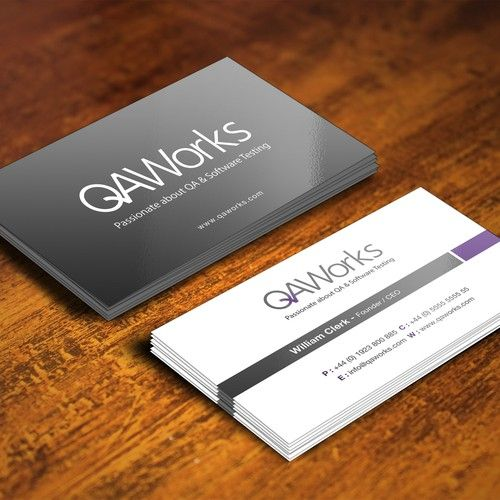 We Re Testers Not Designers Create Qaworks New Business Card We Are A Software Testing Consultancy Special Custom Business Cards Business Cards Card Design
