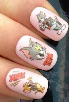Tom & Jerry Nails Art
