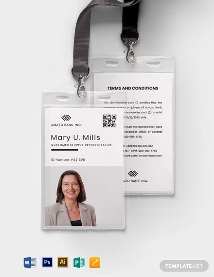 Team Association Id Card Id Card Template Identity Card Design