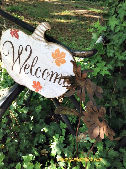 Fall Bicycle Welcome Sign