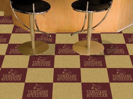 Texas State Bobcats Carpet Tiles. Visit SportsFansPlus.com for a Discount Coupon.