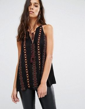 River Island Embroidered Swing Vest