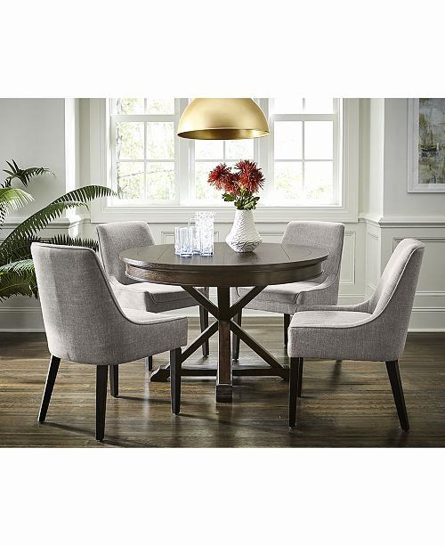 Extendable Round Dining Table Set