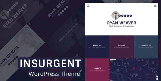 awesome Insurgent - Private Vcard Resume Portfolio WordPress Theme