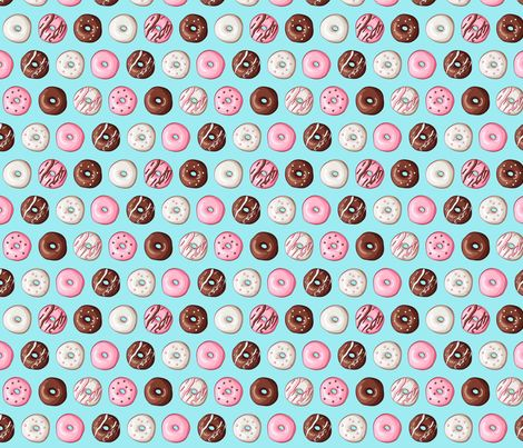 http://www.spoonflower.com/fabric/4558820-small-donut-fabric-by-tictactogs