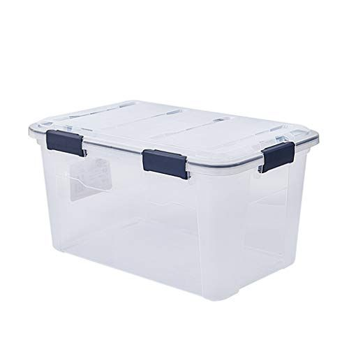 Tyjy Large Transparent Storage Bin With Lid And Wheels Clothing Toy Storage Box Color 3 Pack Size 2 Storage Bins With Lids Basket Sets Toy Storage Boxes