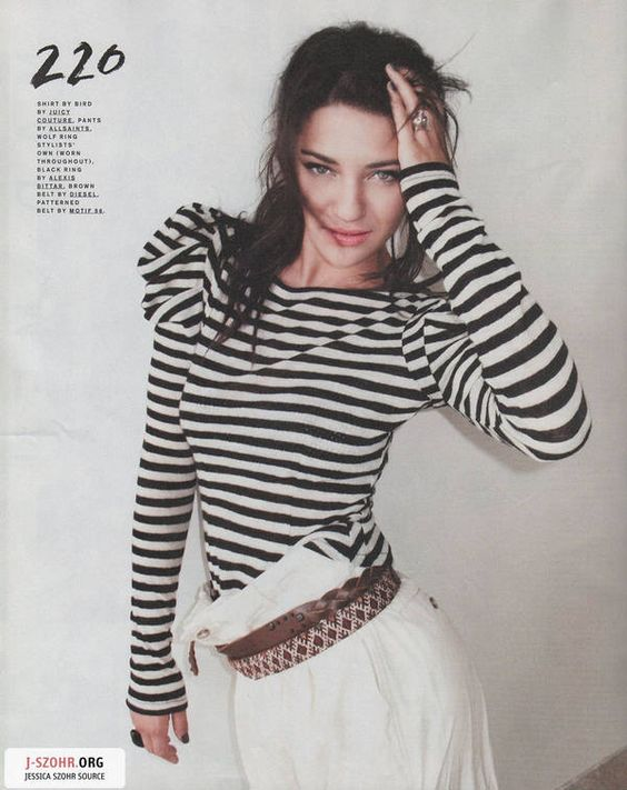 jessica szohr. from the september '10 issue of 'nylon'.