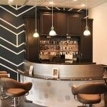 Cool color bar @ Trilogy Salon-Indainapolis, IN, with Takara Belmont Nagi Styling Chairs.