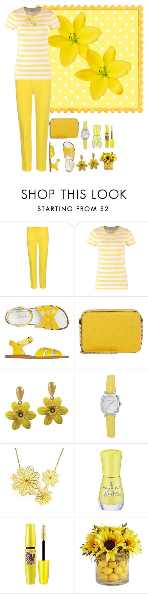 """""""Spring Yellow Fun"""" by alina-n ❤ liked on Polyvore featuring Etro, Toast, Valextra, Anne Klein, Arabel Lebrusan, Essence, Maybelline and Pier 1 Imports"""