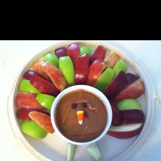 Apples and caramel dip turkey