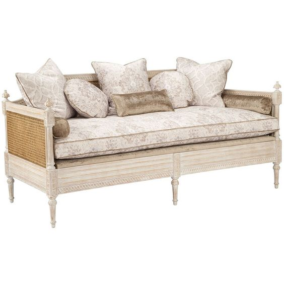 french cane sofa daybed 8455 cad liked on polyvore featuring home furniture sofas french furniture hand carved furniture cane furniture bedroombreathtaking eames office chair chairs cad