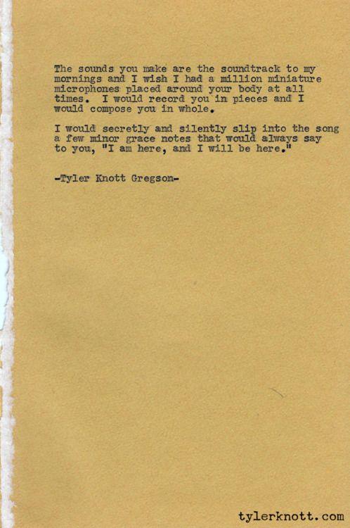 Typewriter Series #29 by Tyler Knott Gregson