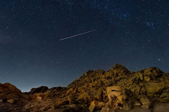 A Plane Flys Through It - Cougar Buttes, Lucerne Valley, CA, USA