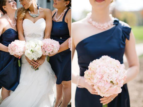 Scott + Ashley – Houdini Museum Blush pink, navy blue, & light grey wedding Molly Jo Collection Custom order necklace from Lulu's Petals via Facebook (Etsy checkout)