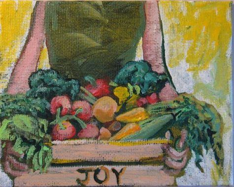 Fruit Loops, pintura original del artista Oriana Kacicek | DailyPainters.com