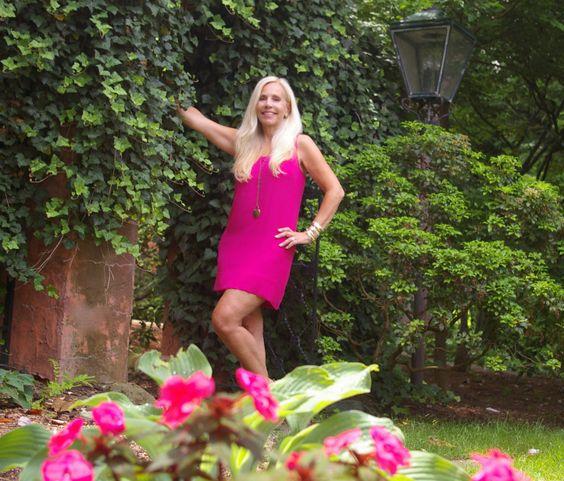 Joie Dress in raspberry silk at danceofdestiny.com