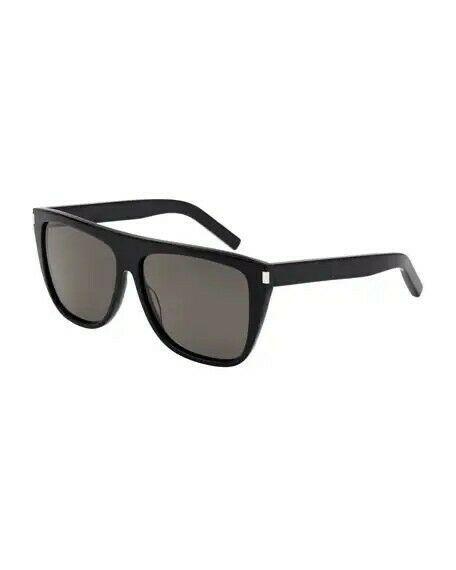 002 A Saint Laurent SL 1 black//smoke crystal lens Sunglasses