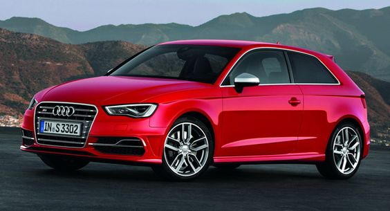 Audi Unleashes New S3 Sport Hatch with 296-Horsepower 2.0 TFSI [33 Photos & Video] - Carscoop - [As for fuel economy, the new S3 S Tronic needs 6.9 liters of fuel per 100 km /34.1 US mpg (manual: 7.0 liters / 33.6 US mpg), an improvement of 1.5 liters compared to the previous version, with corresponding CO2 emissions of 159 (162) g/km (255.89 and 260.17 g/mile).    The new S3 tips the scales at 1,395 kilograms (3,075 lb), making it 60kg (132.3 pounds) lighter than the car it replaces.]