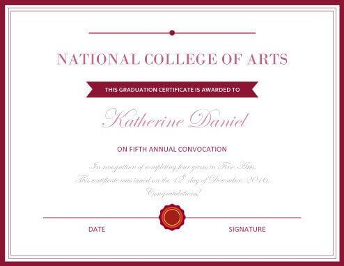 11 Degree Certificate Template Certificate Templates